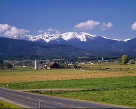 Baldy from Sequim, Valley